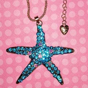 Betsey Johnson Crystal Starfish Necklace